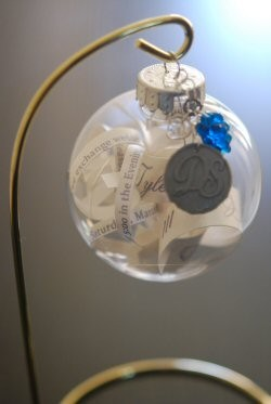 i only had a couple left over wedding invitations - Wedding Invitation Ornament