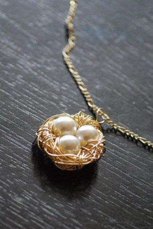 Sarah k tyler gender reveal jewelery a birds nest pendant with swarovski pearls i made in 2010 aloadofball Choice Image